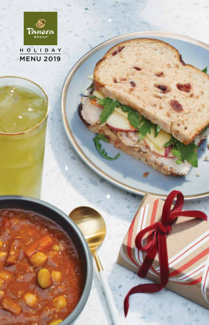 2019 Panera Bread Holiday Menu