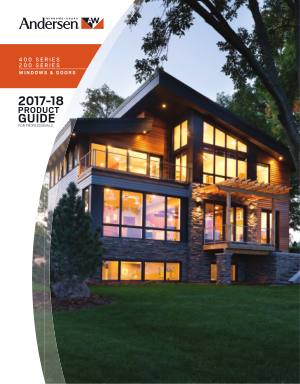 Andersen Windows and Doors 2017 - 2018 Product Guide