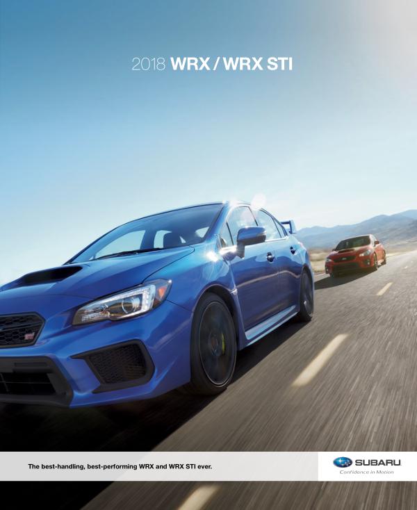 2018 Subaru WRX / WRX STi Brochure