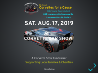 8th Annual Corvettes for a Cause Car Show Flyer